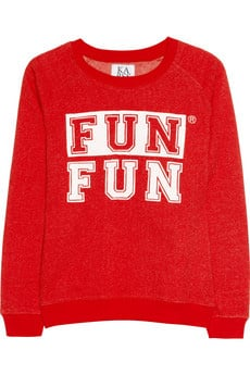Could there be anything more fun for Winter than a jumper that screams 'FUN FUN'? I think not. With its bright red shade it will be a very welcome pop of colour and warmth for my wardrobe — and it's half price! — Jess, Celebrity Editor. Jumper, approx $62 from approx $125, Zoe Karssen at Net-a-Porter
