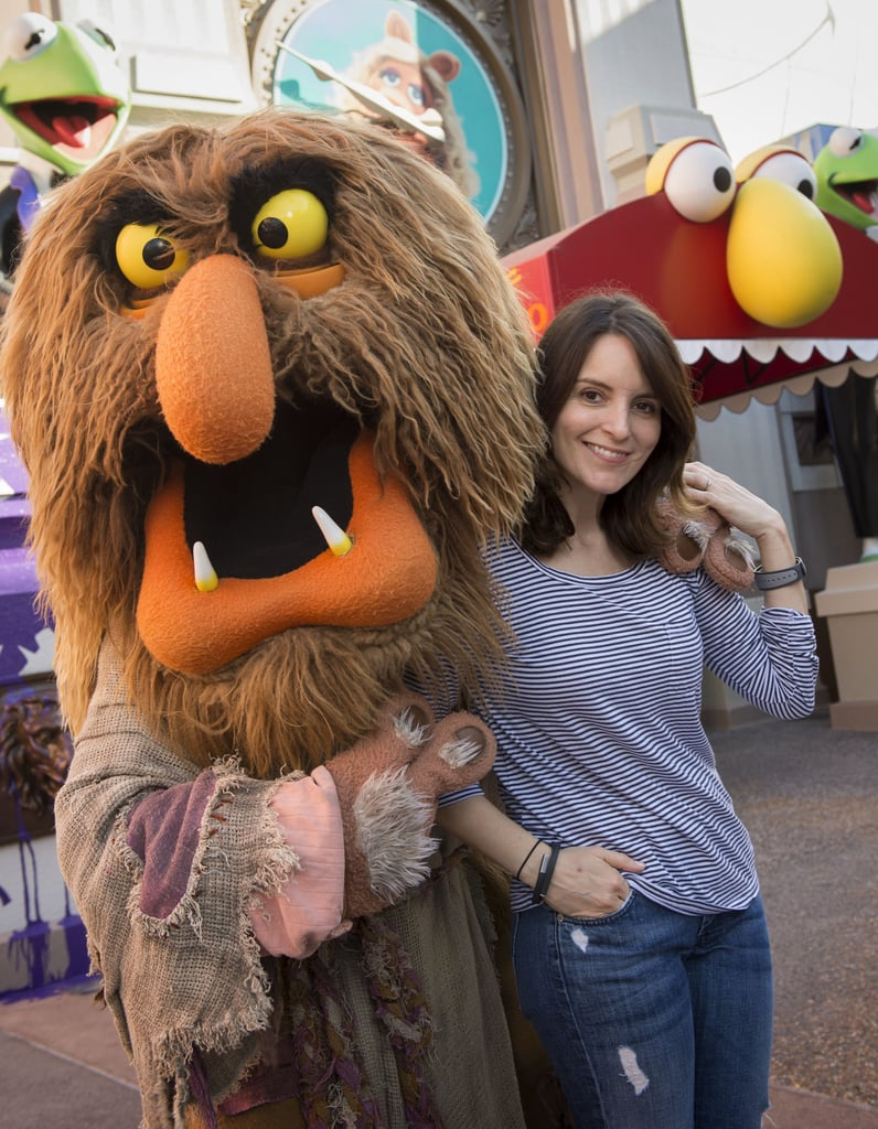 Tina Fey cuddled up to Sweetums during her Sunday fun day at Walt Disney World in March 2014.