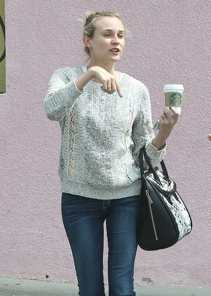 Diane Kruger Kicks Back in LA With a Coffee Date
