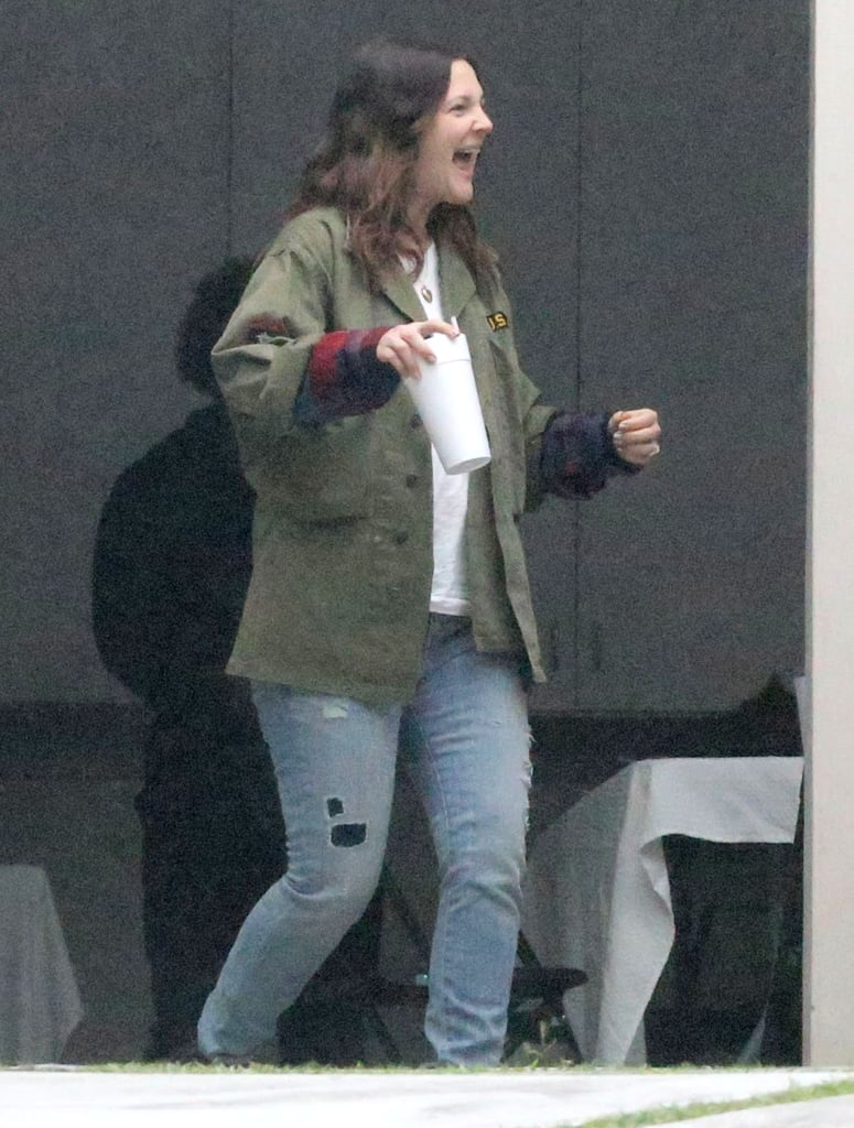 Drew Barrymore was all smiles in Beverly Hills.