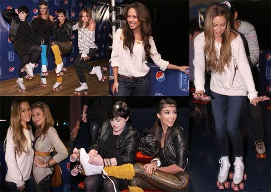 Photos of Lauren Conrad, Kim Kardashian, Vanessa Minnillo at the Pepsi Throwback World of Wheels Roller Skating Party