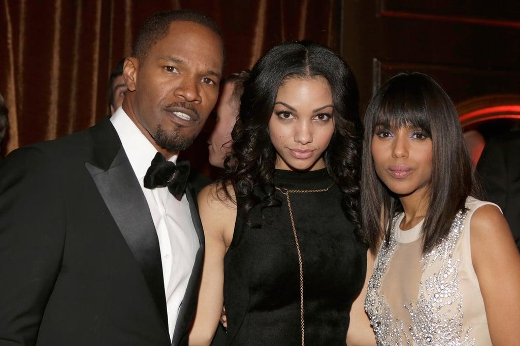 Django Unchained stars Jamie Foxx and Kerry Washington posed with Foxx's daughter Corinne Bishop.