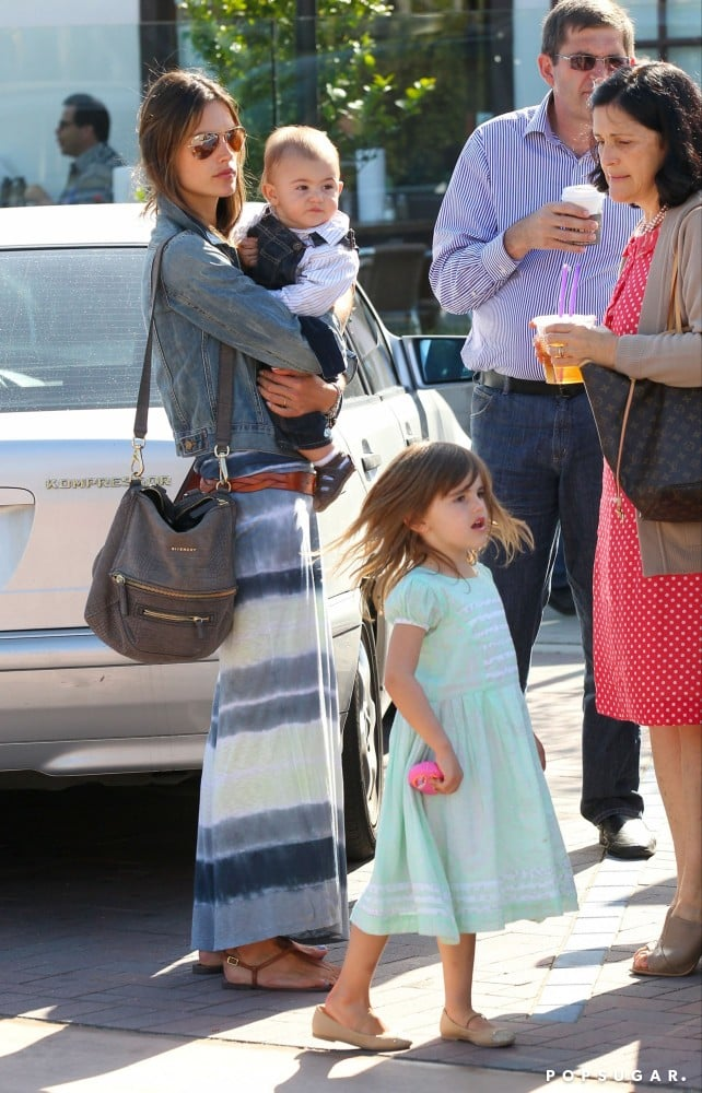 Alessandra Ambrosio had a family outing with her kids, Anja and Noah Mazur, in LA on Saturday.