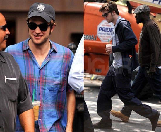 Photos of Robert Pattinson On the Set of Remember Me in NYC 2009-07-11 09:00:00