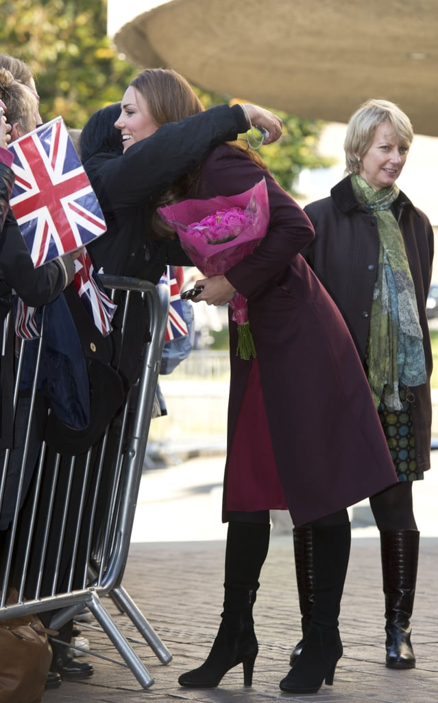 Kate Middleton greeted the crowd at the Newcastle Civic Centre.