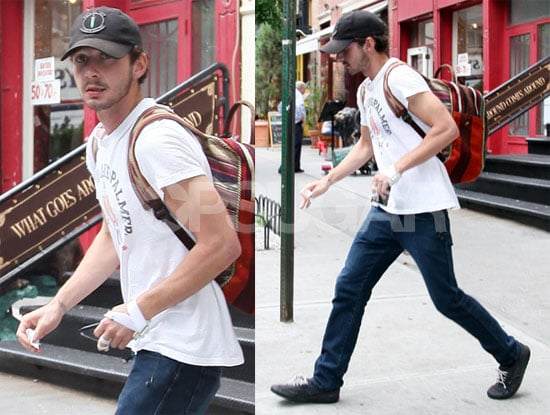 Photos of Shia LaBeouf Getting into a Car in NYC