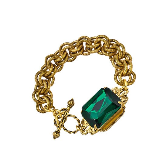 Statement bling with Pantone's colour of the year – emerald green. The perfect accessory for 2013. — Laura, shopstyle.com.au country manager Bracelet, approx $73, John Wind at Max & Chloe