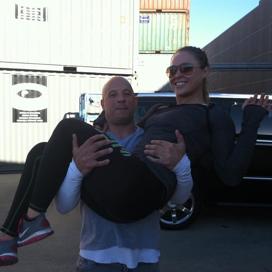 Vin Diesel Carrying Ronda Rousey Instagram Picture