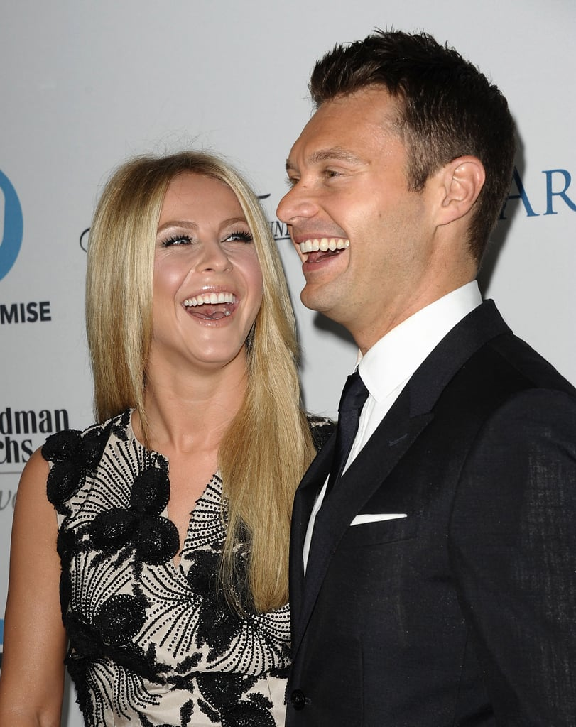 Ryan Seacrest and Julianne Hough shared a laugh at an LA event in September 2011.