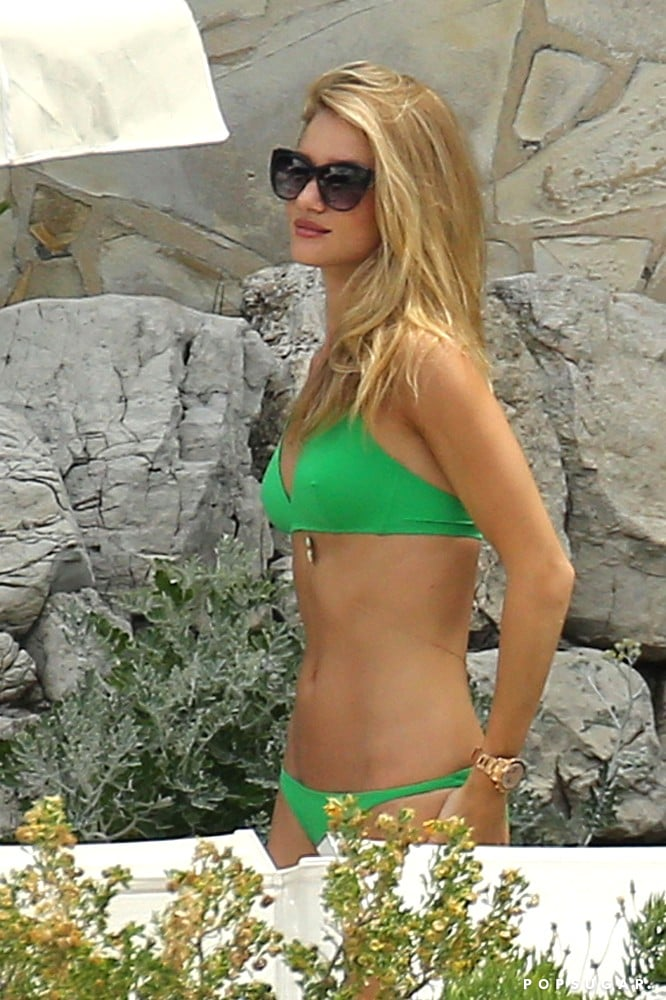 Rosie Huntington-Whiteley soaked up the sun in the south of France in June.