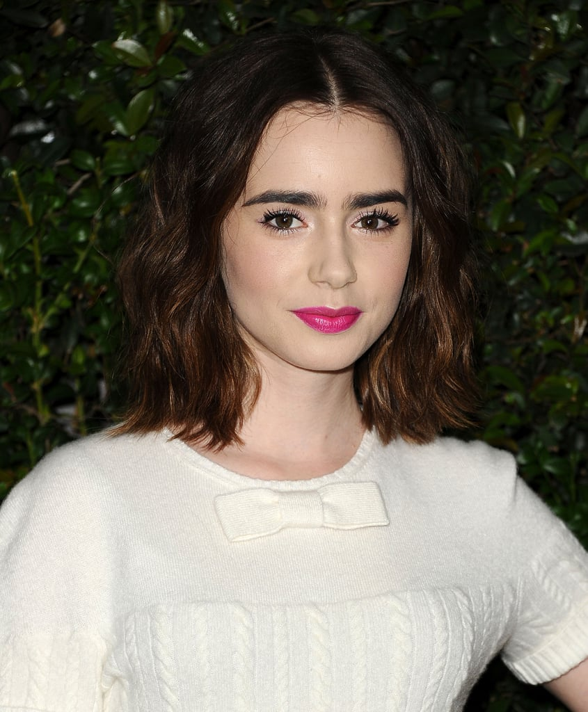 Lily Collins at Chanel Pre-Oscars Dinner