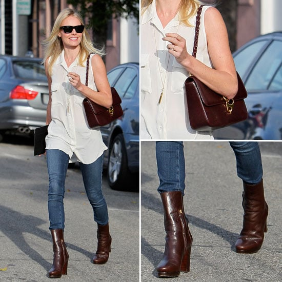 Kate Bosworth Wearing Equipment Blouse November 4, 2011