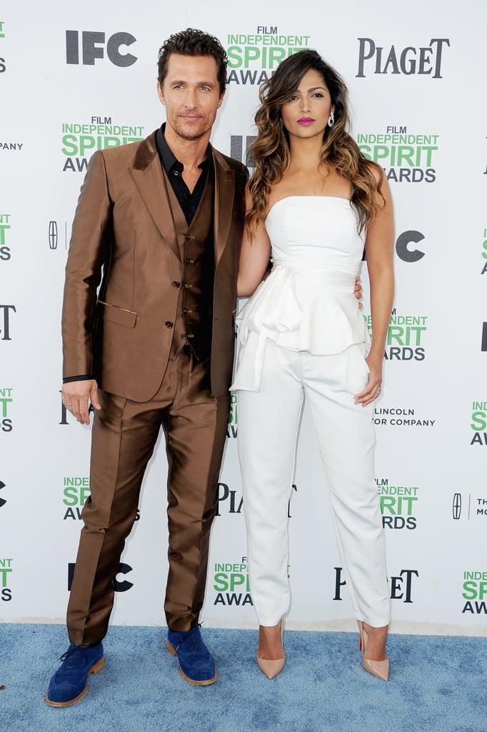 Matthew McConaughey and Camila Alves at the 2014 Spirit Awards