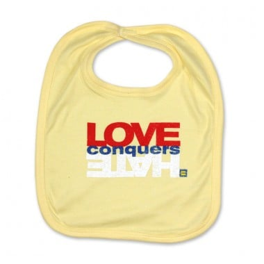 Stay Clean: HRC Love Conquers Hate Bib ($12)