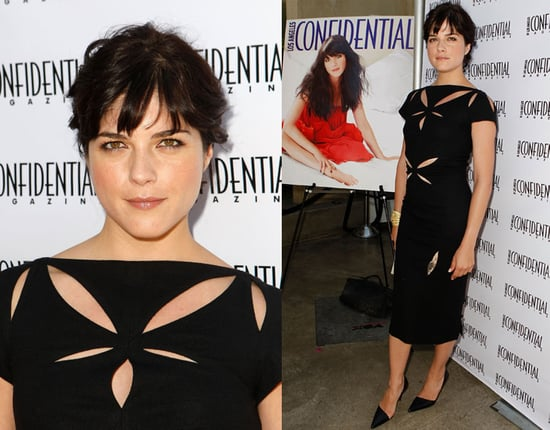 Selma Blair Celebrates Her Los Angeles Confidential Magazine Cover in a Black Cutout Dress