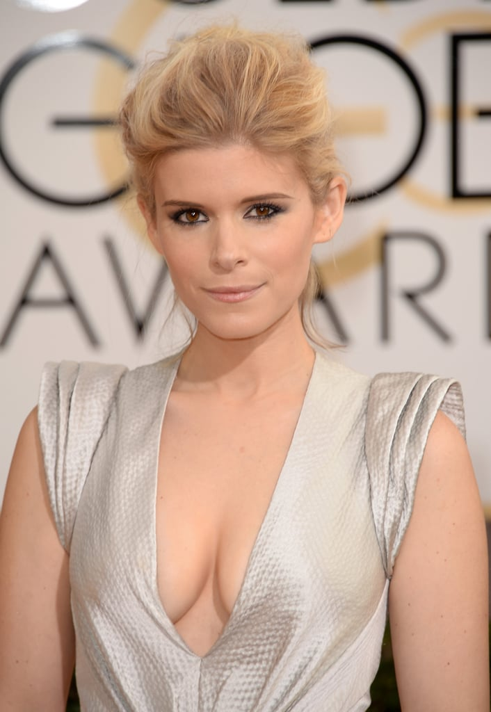 Kate Mara took a page from Amber Heard's playbook with a perfectly teased updo and inky eyeliner.