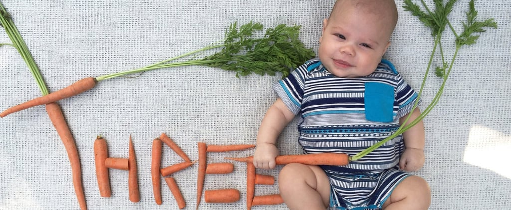 These Monthly Baby Veggie Portraits Are Cute Enough to Eat