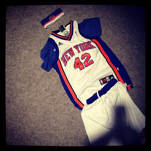 Christy Turlington's son, Finn Burns, laid out his outfit after the New York Knicks beat the Pacers this week. Source: Instagram user cturlington