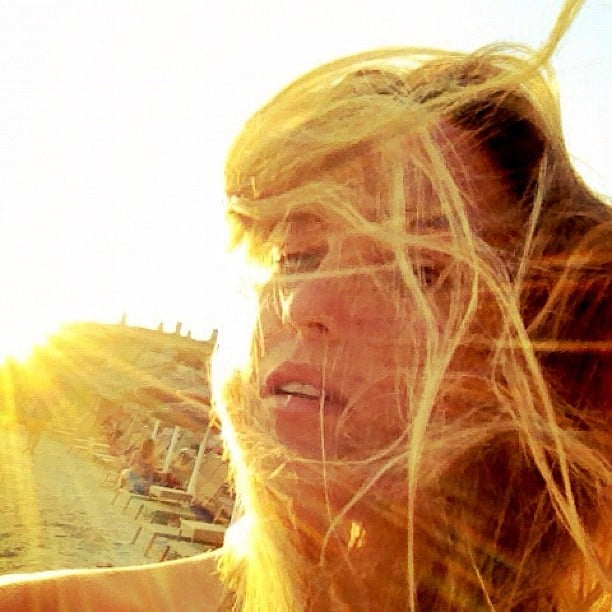 Bar Refaeli snapped a self-portrait during an August sunset.