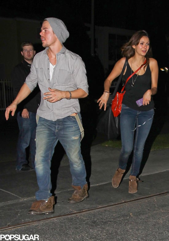 Nina Dobrev and Derek Hough stepped out for a date night in LA in their first public appearance since rumors sparked up that the two are dating.