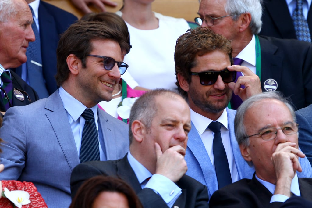 Bradley Cooper and Gerard Butler sat next to each other to watch the men's final between Andy Murray and Novak Djokovic on July 7.