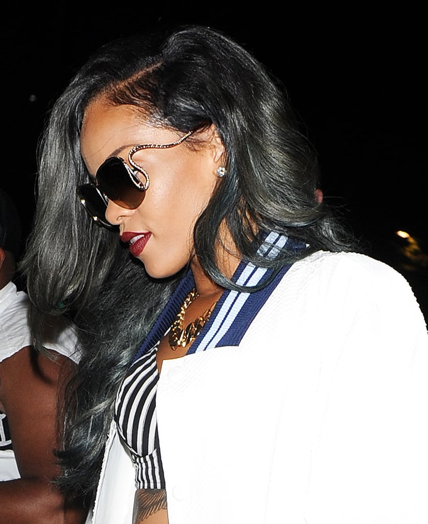 Of course we can't forget Rihanna's double-shaved look that she is steadily growing out, which she also recently dyed gray.