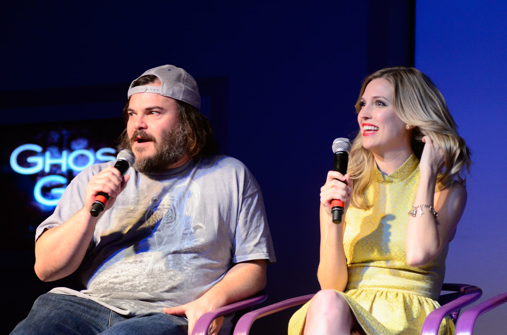 Jack Black and Amanda Lund spoke onstage during the festivities.