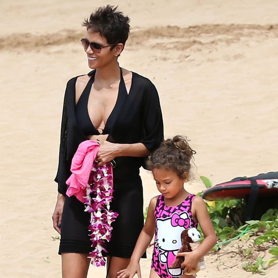 Halle Berry in a Bikini With Nahla and Olivier Martinez
