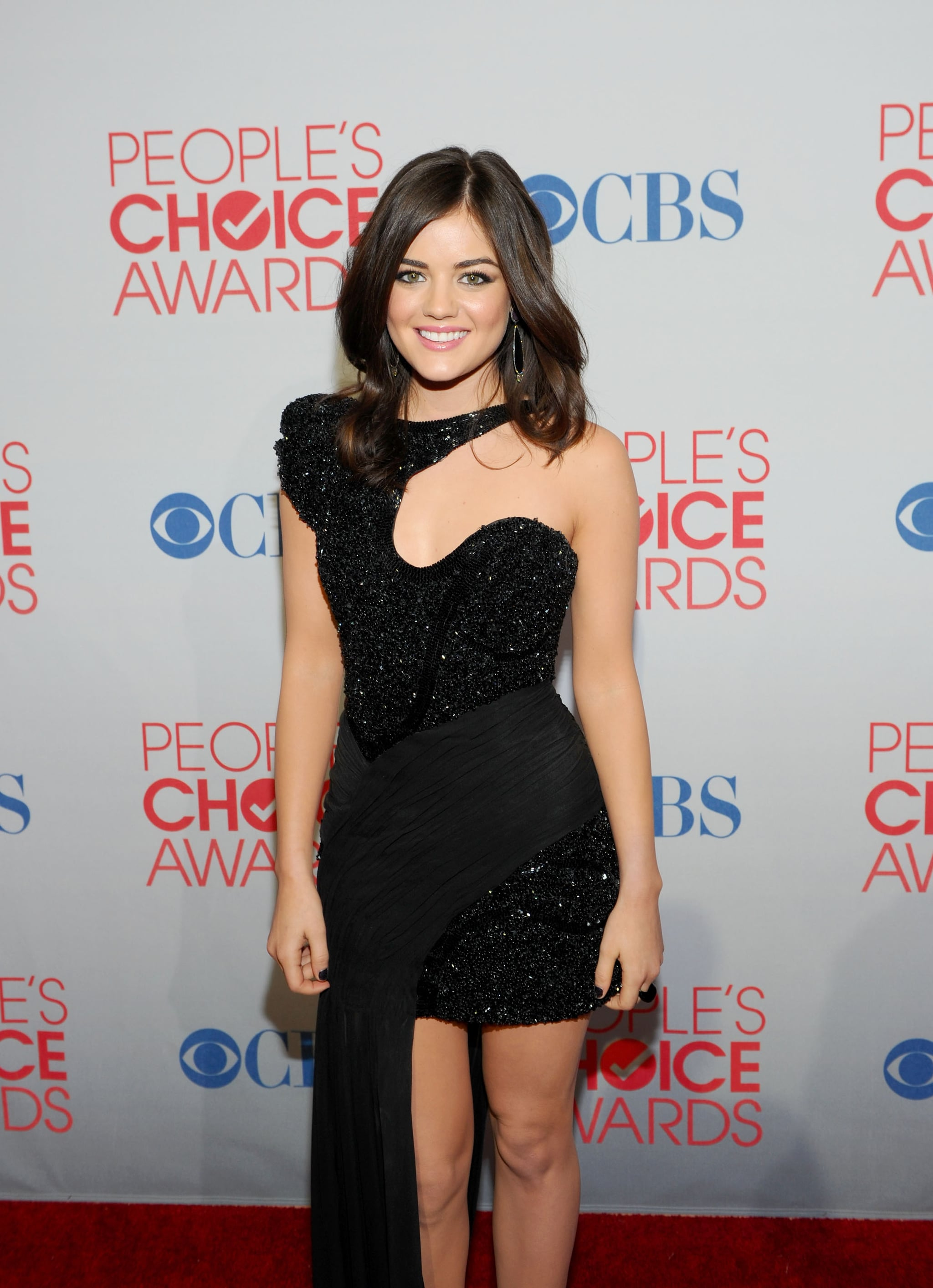 Lucy Hale's cutout dress at the People's Choice Awards.