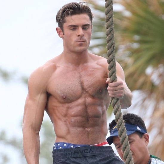 Zac Efron Shirtless Workout Photos