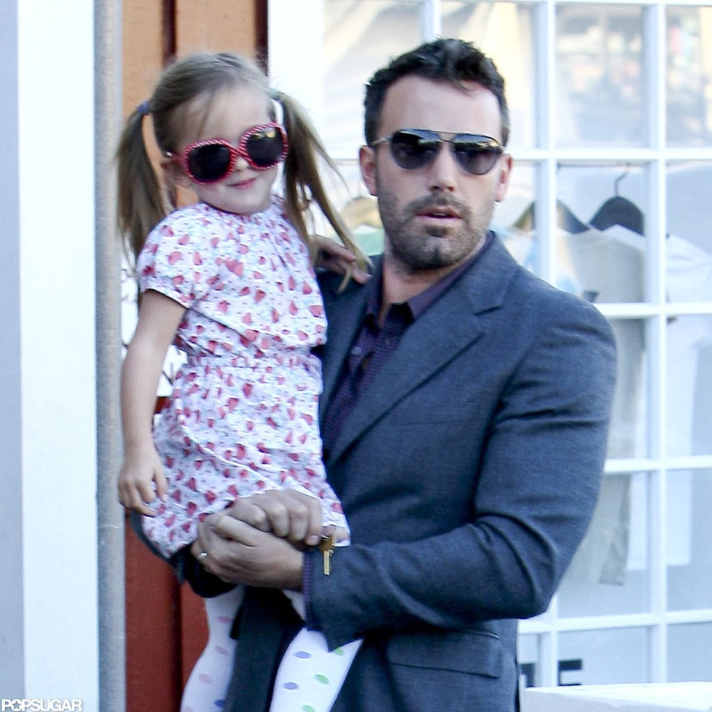 Ben Affleck and Seraphina Affleck made a stop at the Brentwood Country Mart.