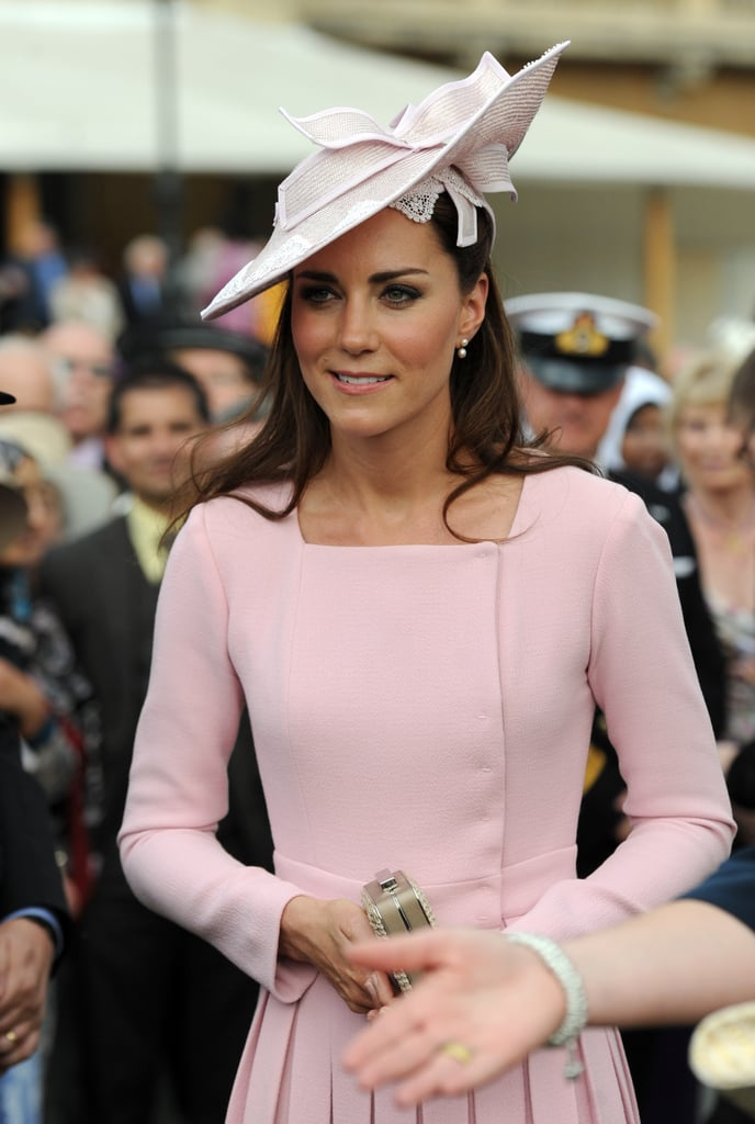Kate Middleton wore a beautiful Emilia Wickstead coatdress and hat.