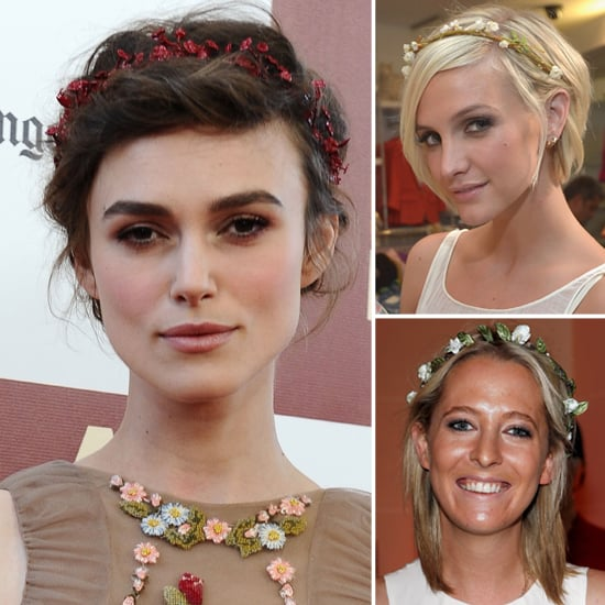 Keira Knightley Wearing Floral Headband Trend