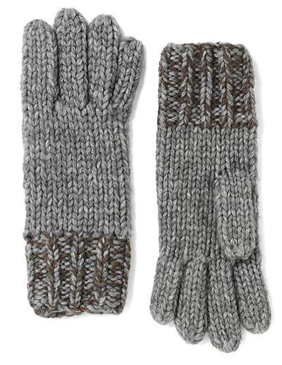 Before you know it, we'll be bundling up again — treat yourself with these Brooks Brothers marled wool and alpaca gloves ($49, originally $98).