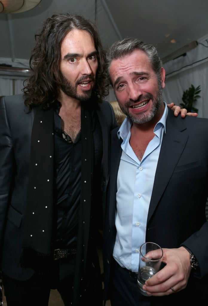 Russell Brand partied with Jean Dujardin.