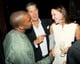 Kanye West chatted with art collector Maria Baibakova and Stefano Tonchi. Source: Jason Merritt/BFAnyc.com