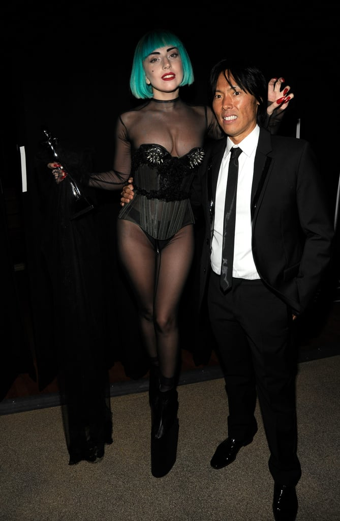 "Apparently before Lady Gaga's first runway show (Mugler's Fall 2011 show), she told her stylist and Mugler creative director Nicola Formichetti and Stephen Gan (who presented her with last night's Fashion Icon Award): ""If I throw up will you tell them it was performance art?"""