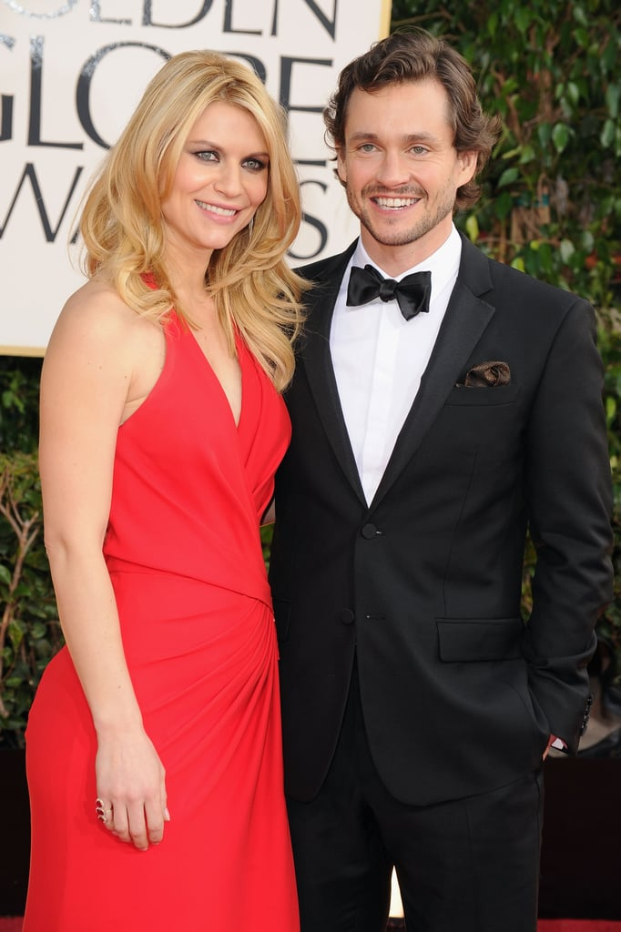 Claire Danes and Hugh Dancy posed on the Golden Globes red carpet.