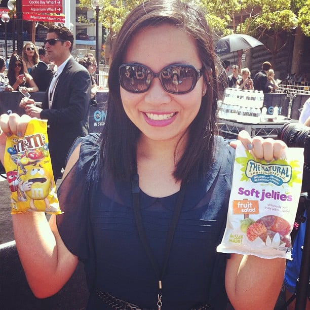 PopSugar editor Jess was armed with sugary (how very appropriate) ammo as she waited for the 2012 ARIAs red carpet arrivals.