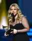 Kelly Clarkson accepted her award.