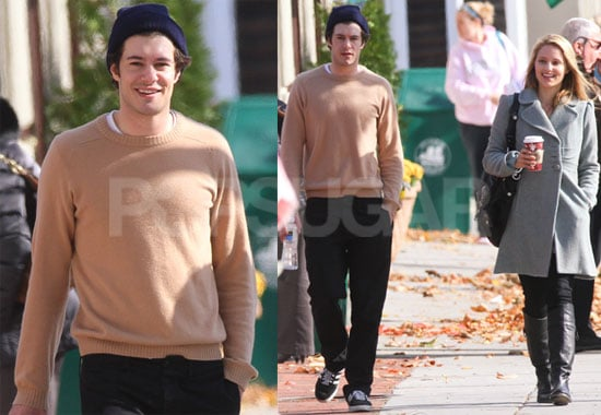 Photos of Adam Brody and Glee's Dianna Argon in NYC
