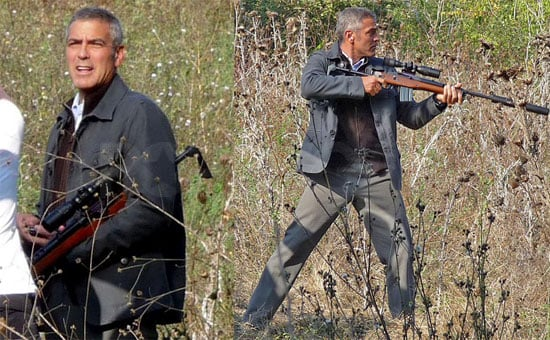 Photos of George Clooney Filming The American in Italy
