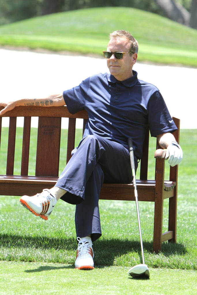 Kiefer Sutherland relaxed on a Burbank, CA, course in June 2012.