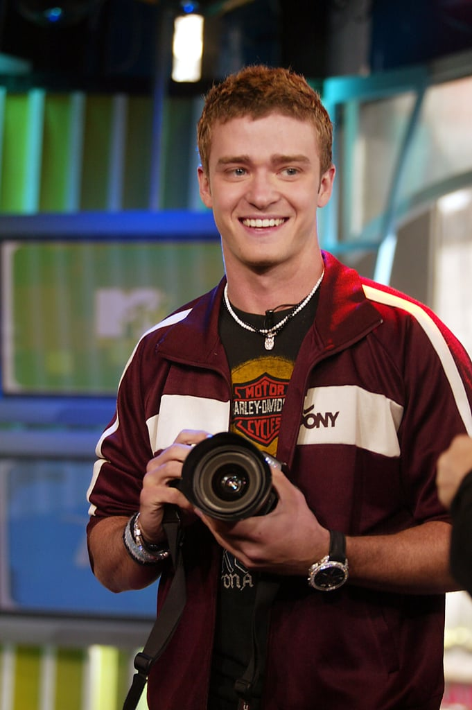 Justin Timberlake debuted a new Justified single on TRL in 2002.