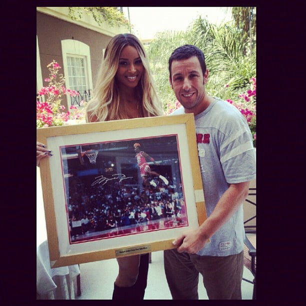 Ciara gifted Adam Sandler with a cool basketball photo.  Source: Instagram user ciara