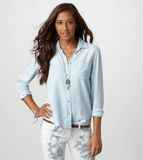 Of all the clothing I own, I over-index the most in denim shirts. But that doesn't mean there isn't room for one more when it's as deliciously soft as the American Eagle Denim Girlfriend Shirt ($45). Perfect for packing for a weekend away, it can top everything from a cute printed skirt to cutoffs to a bikini.  — Melissa Liebling-Goldberg