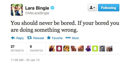 Well said, Lara Bingle.