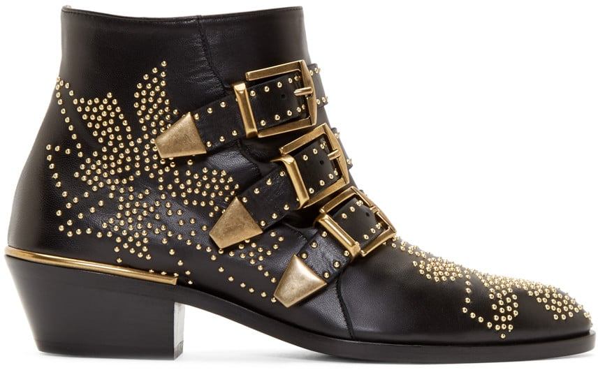 Chloé's studded Suzanna boots ($1,340) aren't just statement-making; they're entirely practical, too.