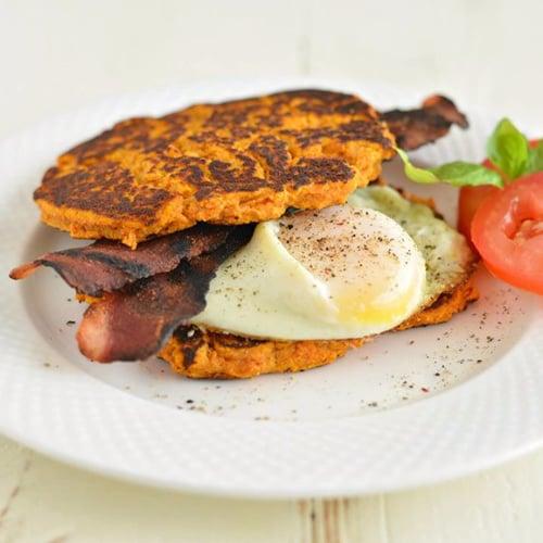 Breakfast Sandwich With Sweet Potato Toast