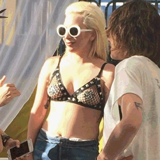 Lady Gaga Bikini Pictures in Palm Springs April 2016
